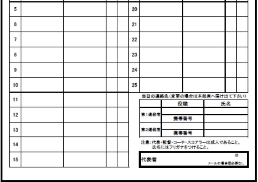 大会登録指導者・選手名簿(ジュニア).xls