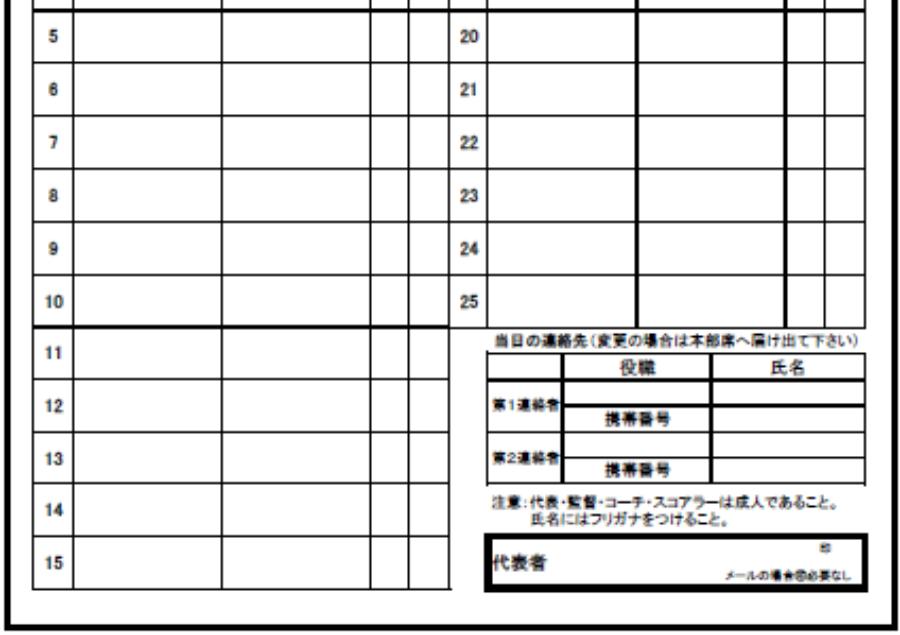 大会登録指導者・選手名簿(レギュラー).xls